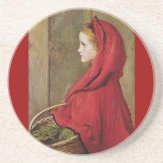 Caperucita Rojo de John Everett Millais Posavasos Personalizados