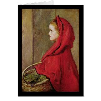Caperucita Rojo de John Everett Millais Tarjeta Pequeña