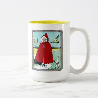 Caperucita Rojo del vintage Tazas De Café