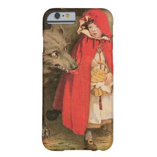 Caperucita Rojo del vintage y mún lobo grande Funda Barely There iPhone 6