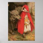 Caperucita Rojo Jessie Wilcox Smith del vintage Poster