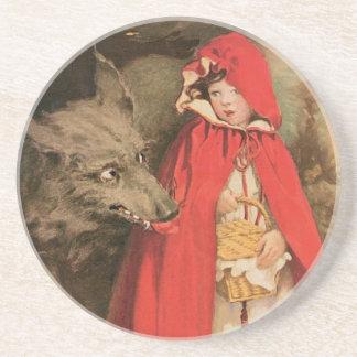 Caperucita Rojo Jessie Wilcox Smith del vintage Posavasos Diseño