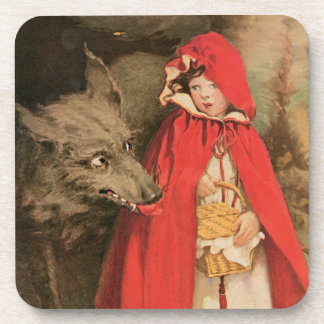 Caperucita Rojo Jessie Wilcox Smith del vintage Posavasos