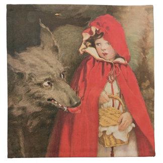 Caperucita Rojo Jessie Wilcox Smith del vintage Servilleta