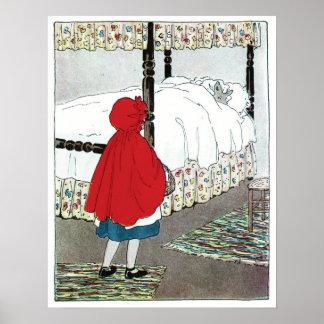 Caperucita Rojo ¡Qué grandes oídos usted tiene Poster