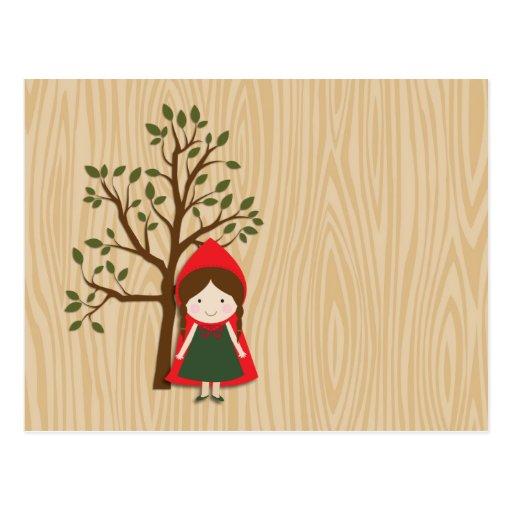 Caperucita Rojo Postales