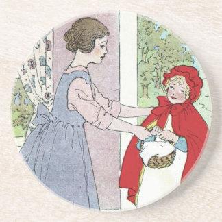 Caperucita Rojo: Traiga esto a la abuela Posavasos Para Bebidas