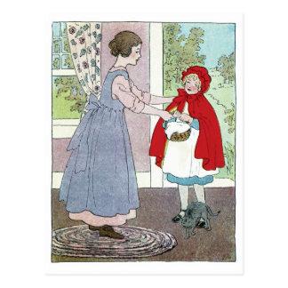 Caperucita Rojo: Traiga esto a la abuela Tarjetas Postales