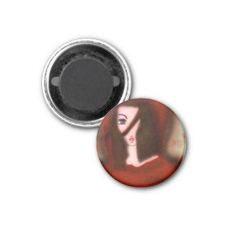 Caperuza roja imán redondo 3 cm