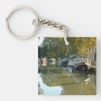 Capestang, canal du Midi Square Acrylic Keychains