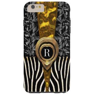 Capetown Zebra Monogram Tough iPhone 6 Plus Case