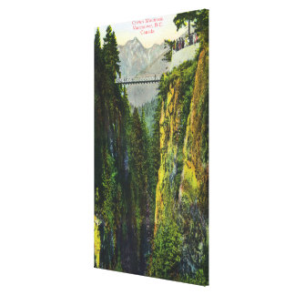 Capilano Canyon View of Crown Mountain Canvas Print