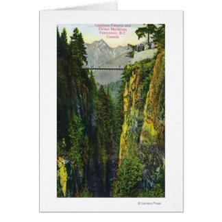 Capilano Canyon View of Crown Mountain Card