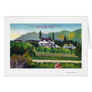Capilano Estates Showing the Golf Club Card