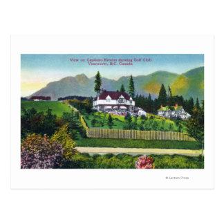 Capilano Estates Showing the Golf Club Postcard