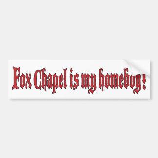Capilla 2 del Fox Etiqueta De Parachoque