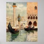 Capilla antigua de la góndola de Italia Venecia de Impresiones