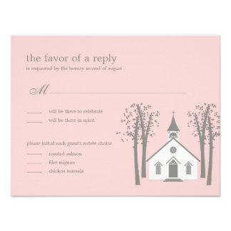 Capilla caprichosa que casa RSVP la tarjeta de la Invitación