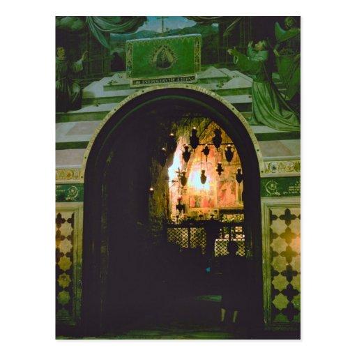 Capilla con una iglesia, ángelus del della de Sant Postales