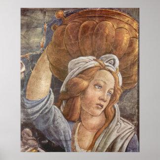 Capilla de Botticelli-Sistine - la juventud de Mos Póster