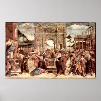 Capilla de Botticelli-Sistine que castiga el Levit Póster