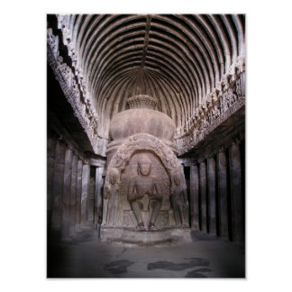 Capilla de Buda en la India Póster