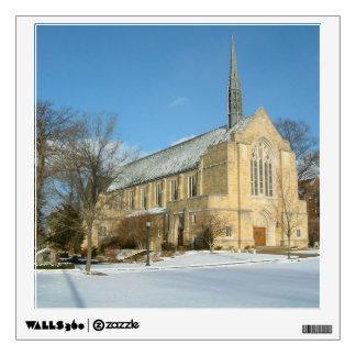 Capilla de Harbison en invierno en la universidad Vinilo