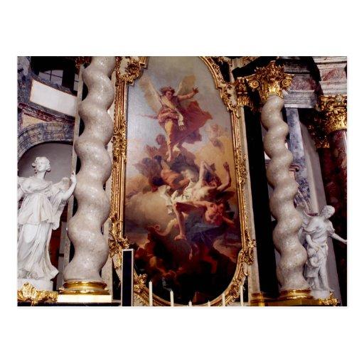 Capilla de Hofkirche en el palacio de Residenz, Tarjetas Postales