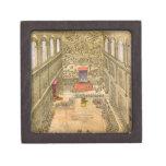 Capilla de la audiencia en el Vatican (grabado del Caja De Recuerdo De Calidad