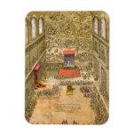 Capilla de la audiencia en el Vatican (grabado del Imanes Rectangulares