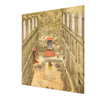 Capilla de la audiencia en el Vatican (grabado del Impresiones En Lienzo Estiradas