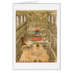 Capilla de la audiencia en el Vatican (grabado del Tarjeta