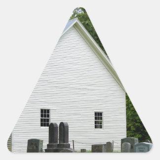 Capilla de la ensenada de Cades Pegatina Triangular