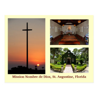 Capilla de la misión de Nombre de Dios Postcard Postal