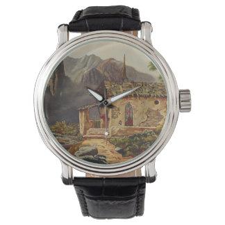 Capilla de la montaña relojes de pulsera