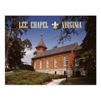 Capilla de Lee, última morada de Roberto E. Lee Postales