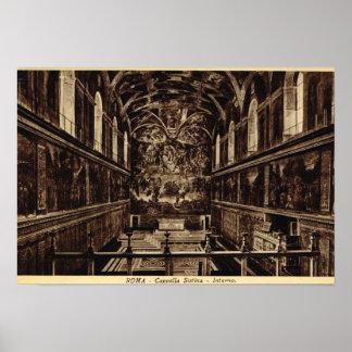 Capilla de Roma Sistine Póster
