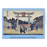 Capilla de Sanno en Nagatanobaba por Ando, Hiroshi Tarjeta