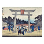 Capilla de Sanno en Nagatanobaba por Ando, Hiroshi Tarjeta Postal