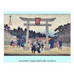Capilla de Sanno en Nagatanobaba por Ando, Hiroshi Postales