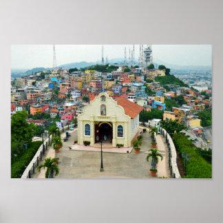 Capilla de Santa Ana, poster de Guayaquil, Ecuador