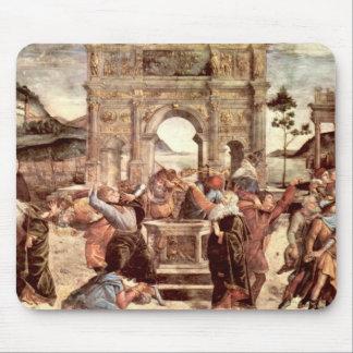 Capilla de Sistine - castigos del Levites Tapetes De Ratón