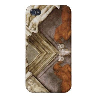 Capilla de Sistine de bronce de los desnudos de Mi iPhone 4/4S Funda