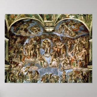 Capilla de Sistine: El juicio pasado, 1538-41 Póster