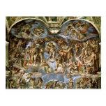 Capilla de Sistine: El juicio pasado, 1538-41 Tarjetas Postales