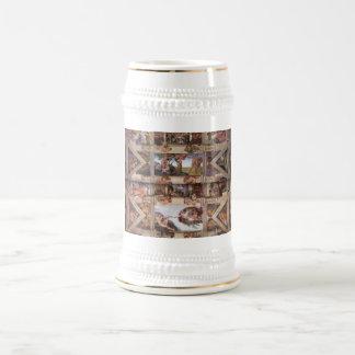 Capilla de Sistine Stein Jarra De Cerveza