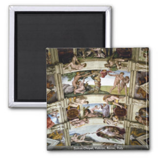 Capilla de Sistine, Vatican, Roma, Italia Imán Para Frigorífico