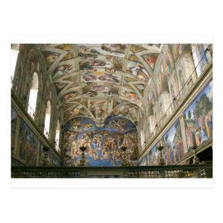 Capilla de Vatican Sistine Tarjeta Postal