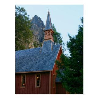 Capilla de Yosemite Tarjeta Postal
