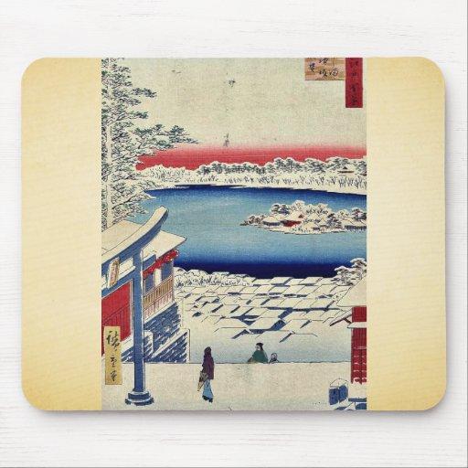 Capilla de Yushima Tenjin por Andō, Hiroshige Mouse Pad